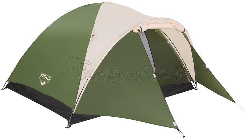 אוהל קמפינג כולל צילון קידמי ל-4 אנשים MONTANA