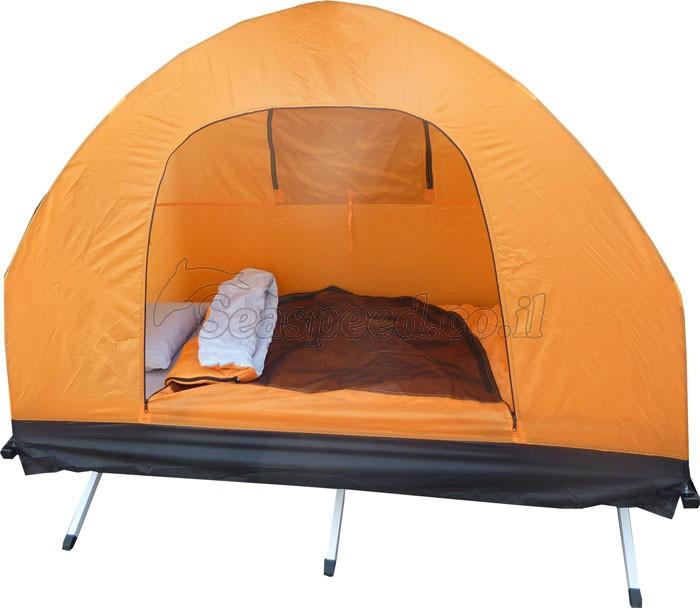 ארבע מוצרים באחד מיטת שדה מתקפלת איכותית מאלומיניום תיק נשיאה מזרון, כרית, שק שינה אוהל ארבע פתחים לאוורור ומשאבת ניפוח אוויר