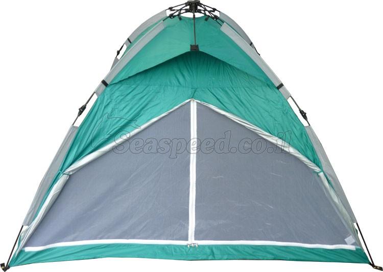 אוהל פתיחה מהירה לארבעה אנשים כולל תאורה פנימית