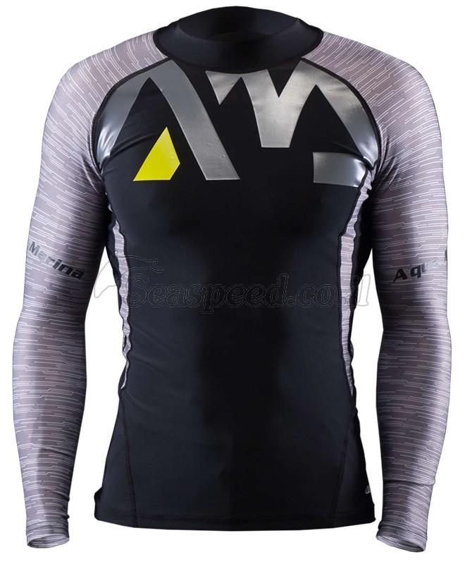 חולצת ליקרה שרוול ארוך בצבע אפור Rashguard Division